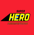 superhero style comics font design alphabet vector image vector image