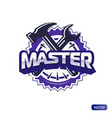 text master hammer and wrench vector image vector image