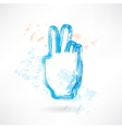 two fingers grunge icon vector image vector image