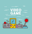 video games classic console vector image vector image