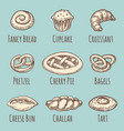 vintage bakery or pastries products collection vector image vector image