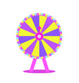 wheel fortune roulette luck flat icon vector image vector image