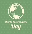 word environment day design earth vector image