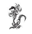 dragon tattoo art vector image