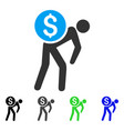 financial courier flat icon vector image