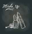 makeup on the blackboard vector image
