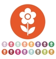The flower icon Nature symbol Flat vector image
