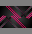 abstract black purple paper stripes corporate tech vector image vector image
