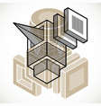 abstract geometric form 3d polygonal shape vector image vector image