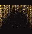 abstract gold glitter lights background vector image vector image
