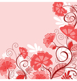 abstract pink floral background vector image vector image