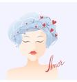 Amor Girl in love vector image vector image