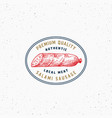authentic quality salami vintage typography label vector image vector image