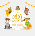 bashower banner template with place for text vector image