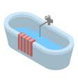 bathtub icon isometric style vector image