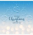 beautiful christmas holiday bokeh background vector image