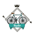 bicycle retro hipster style vector image