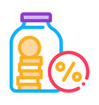 bonus glass jar icon outline vector image