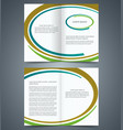 booklet template design with brown blue vector image vector image