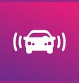 car alarm icon sign vector image vector image