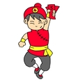 Character with red clothes collection vector image vector image