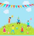 children have fun party amusement park active vector image vector image