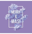 Christmas and New Years blue purple background vector image vector image