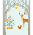 Christmas forest vector | Price: 1 Credit (USD $1)