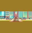 city roads intersection cartoon background vector image