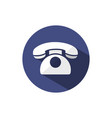 classic phone icon with shadow on a dark blue vector image