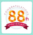 colorful polygonal anniversary logo 3 088 vector image vector image