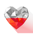 crystal gem jewelry Polish heart with the flag of vector image vector image