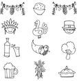 Doodle of object thanksgiving set vector image vector image