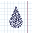 drop icon Eps10 vector image vector image