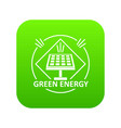 energy icon green vector image vector image