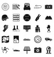 evening time icons set simple style vector image vector image