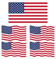 flat and waving flag of united state america vector image