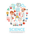 flat science round concept vector image