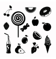 food black icon set vector image vector image