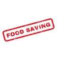 Food Saving Text Rubber Stamp vector image vector image