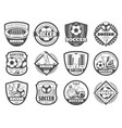 football or soccer league heraldic shield badge vector image vector image