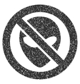 Forbidden Alien Grainy Texture Icon vector image vector image