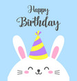 Funny cartoon card with hare happy birthday