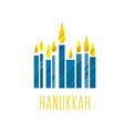 hanukkah juish jewish menorah simple icon hanuka vector image vector image