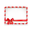 holiday stripe frame-02 vector image vector image