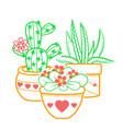 houseplant icon vector image vector image