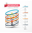 infographics template with man holding star vector image vector image