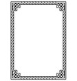 irish celtic ractangle frame design vector image vector image