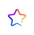 isolated rainbow gradient colorful star logo on vector image vector image