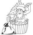Jolly Santa Claus vector image vector image
